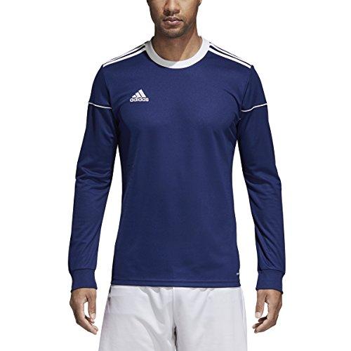 adidas Squadra 17 Long-Sleeve Jersey - Men's Soccer YM Dark Blue/White
