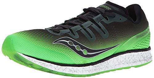 Saucony Men's Freedom ISO Running Shoe, Slime Black, 12 M US