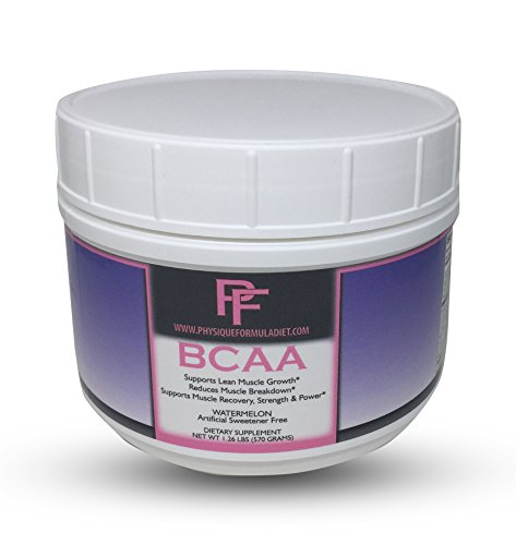 Physique Formula BCAA Powder-Artificial Sweetener Free Branched Chain Amino Acids Powder Watermelon Flavor 1.26 Lbs (30 Servings)