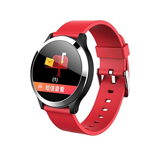 Aomili B65 Smart Watch Armband EKG Blutdruck Herzfrequenz Farbdisplay Messung intelligente Gesundheit Armband,Herzfrequenzüberwachung Schrittzähler Sport Bluetooth (rot)