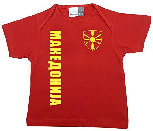 aprom Mazedonien Baby T-Shirt - Trikot - WM EM No.1 R MAZ (80/86)