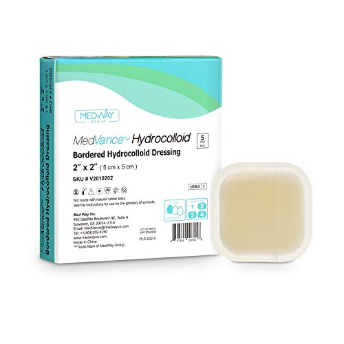 "MedVance TM Hydrocolloid – Bordered Hydrocolloid Adhesive Dressing 2"" X 2"" Box of 5 DRESSINGS"