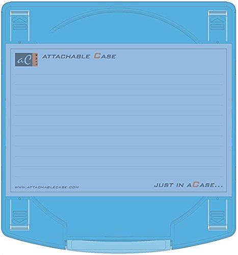 SIMPLE FEATURE AC LINK Attachable Case 10 P. Blue Blue - Beschermhoezen voor optische platen (blauw, polycarbonaat)