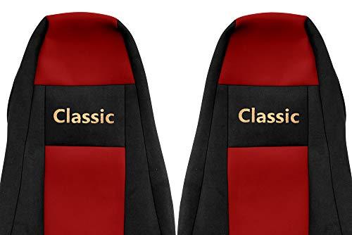 24/7Auto 2x zwart/rode stoelhoezen voor Scania R P G serie 2005/15 trucks