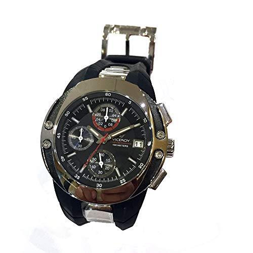 Reloj Viceroy 43597-55 con Caja de Acero, Correa de Caucho, cronógrafo y Calendario