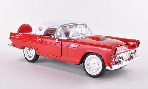 Ford Thunderbird, rot/weiss , 1956, Modellauto, Fertigmodell, Motormax 1:24