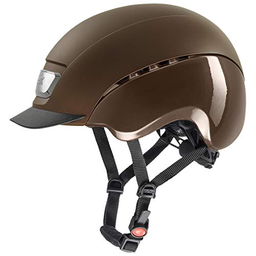 uvex Unisex – Erwachsene, elexxion pro Reithelm, brown mat-brown shiny , 57-59  cm