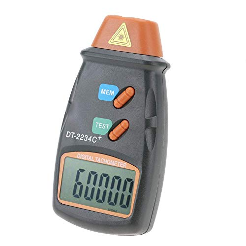 LHQ-HQ Tacómetro digital, sin contacto Digital Display LCD Mini RPM del probador del metro del tacómetro for el lavado Torno ventilador eléctrico Máquinas 2.5RPM - 99,999RPM