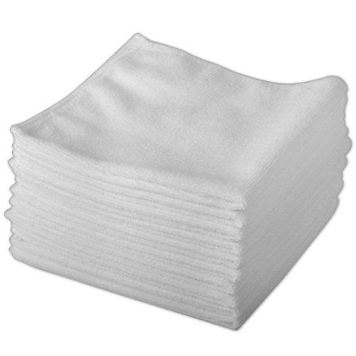 Reinigungstücher, Mikrofaser, Weiß, 20 Stück Reinigt ohne Chemikalien Antibakterielle Mikrofasertücher für streifenfreies Wischen
