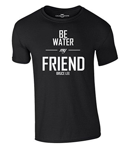 Bruce Lee T-Shirt Be Water My Friend S-XXL (XL, Schwarz)