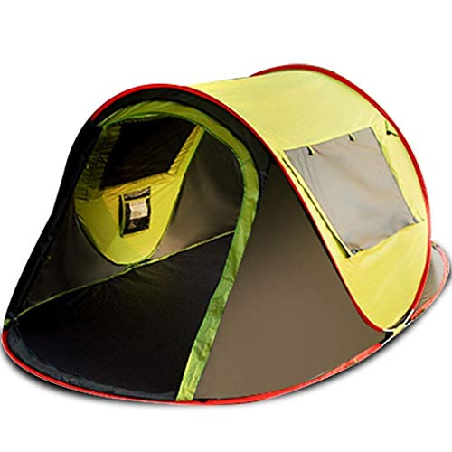 HIGHKAS Automatic tent outdoor 3-4 people hydraulic spring double tent rainproof