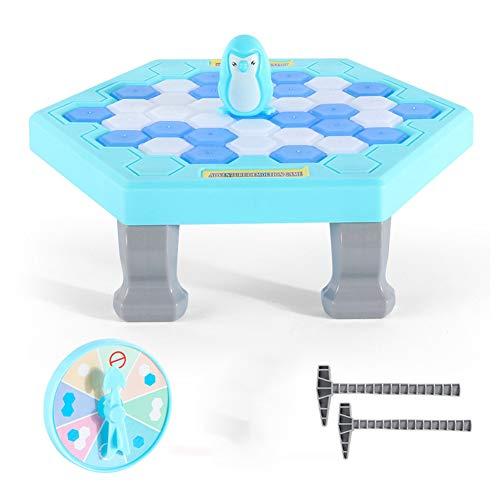 ATRNA Gioco Puzzle Pinguino con Blocchi di Ghiaccio, Gioco di Ghiaccio Rugoso Gioco da Tavolo Penguin Cubetti di Ghiaccio di Pinguino