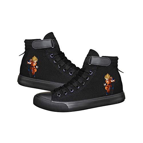 Vhunkjnr Dragon Ball Sneakers Hohe Qualität Hohe Segeltuchschuhe Lässige Turnschuhe Sportschuhe Unisex Plus Size Lace-up Schuhe (Color : Black07, Size : EU40 US8.5)