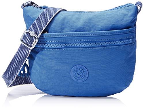 Kipling Arto S, Bolso bandolera para Mujer, Azul (Wave Blue), 25x21x3 cm