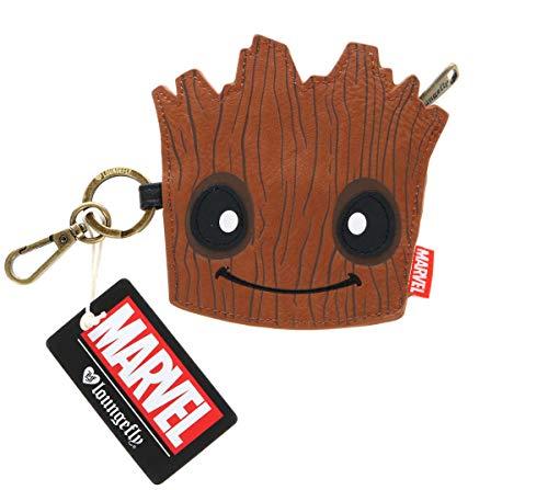 Guardians Of The Galaxy- Monedero Groot Guardianes de la Galaxia, Color marrón (LOUNGEFLY 1)