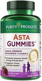 AstaGummies by Purity Products - Clinical Strength 12 mg Astaxanthin Gummies w/ Vitamin C - Fermented High Potency Astaxan...
