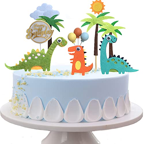 14 Piezas Decoracion Tartas Infantiles, Happy Birthday Cake Topper, Topper Tarta Cumpleaños para Niña, Dinosaurio Decoración Tarta Cumpleaños para Niño, Decoración de Cupcakes.