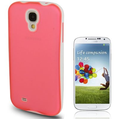 Rocina 2in1 + Silicone Cover per Samsung i9500 Galaxy S4 in Trasparente rosa Bianco