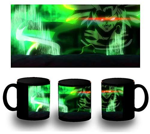 MERCHANDMANIA Taza Completamente Negra Dragon Ball Super Broly FURIOSO Black mug