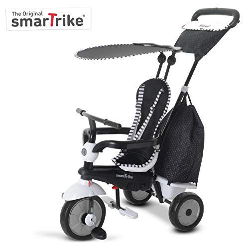 smarTrike 6952400 Glow Touch Steering 4-in-1 Trike – Black/White