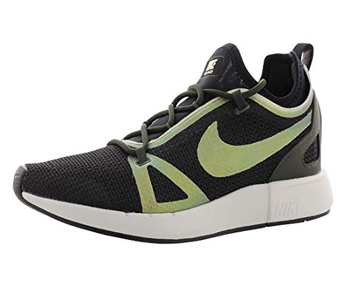 Nike Womens Dual Racer Fabric Low Top Lace Up Running Sneaker, Black, Size 8.5