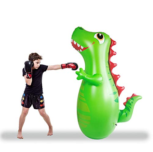 47 Inch Tall Inflatable T-Rex Dinosaur Toys Bop Bag, Kids Punching Bag with Bounce-Back Action,Free-Standing Kids Punching Bag,Inflatable Boxing Punching Bag for Toddlers Exercise and Energy Relief
