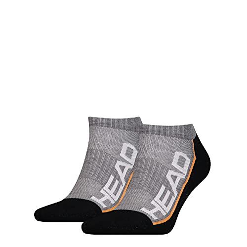 HEAD Unisex Performance Sneaker 2p Socken, Grey/Black, 39/42