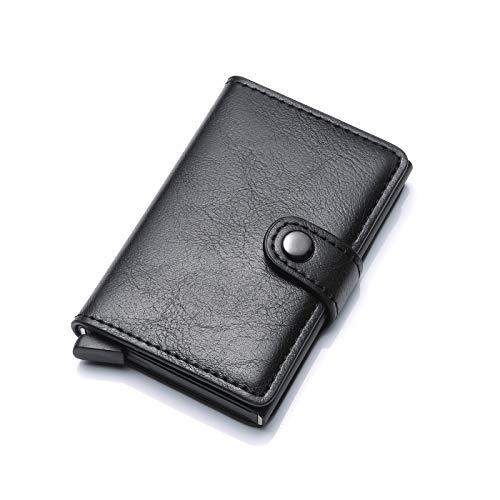 Kartenetui mit RFID Schutz bis 6 Karten Portmonee Geldbeutel Kreditkartenetui, Aluminium Karten Schutzhülle - sichere Aufbewahrung