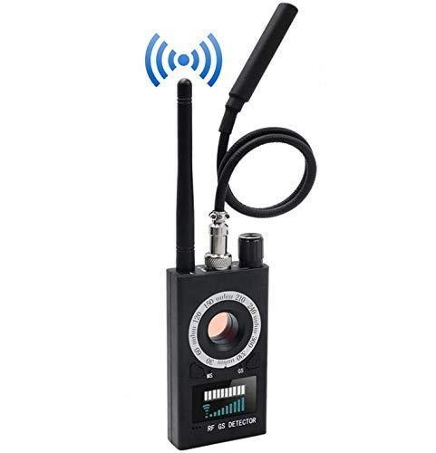 Anti-Spion versteckter Kamera Detektor, Signaldetektor RF Wireless, Wanzendetektor GPS Finder Laser für GSM Tracker Abhörgeräte Funkkameras Wanzenfinder (schwarz)