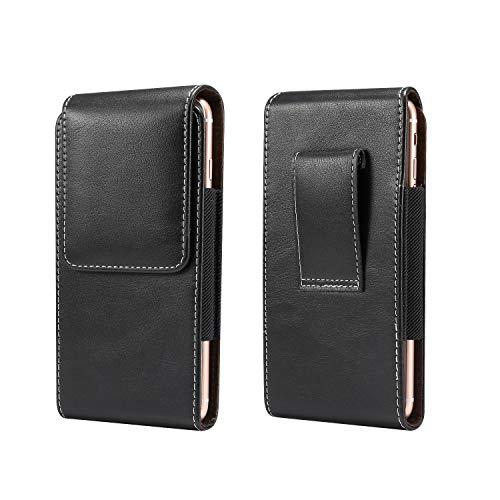 Funda de piel vertical para teléfono iPhone 11 Pro Max, XS Max, 8 Plus, 7 Plus, 6 Plus, funda de cinturón, para hombre para Samsung Galaxy S10+, S9+, S8+, J4+, A50, A50S, A60, M30S, A20
