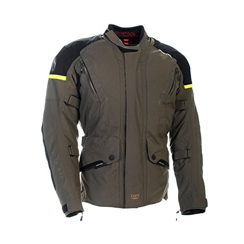 Richa - Giacca da moto Cylone GTX Gore-Tex in tessuto impermeabile, colore: Titanio