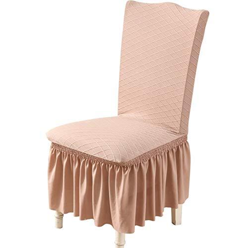 Chair cover 1/2 / 4/6 / pcs Soud Spitze Stuhlabdeckungen Spandex Elastische Stuhlabdeckung Hochzeitsbankett Hotel Sitzbezug rot für Wohnzimmer 8 Farben Casual ( Color : Color3 , Specification : 6pcs )