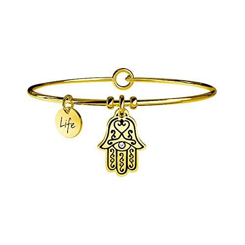 Kidult Damen-Armreif Edelstahl 1 Kristall One Size, gold