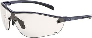 Bolle Safety Silium+ Safety Glasses, Dark Gunmetal Frame, Light Amber Lenses