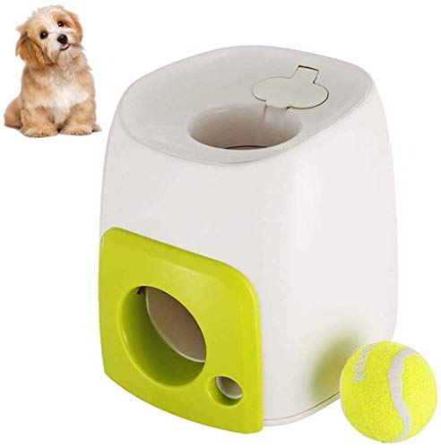 Ball Launcher Automatic Ball Launcher Thrower,Interactive Ball Launcher for Dogs with Tennis Balls Dog Toy
