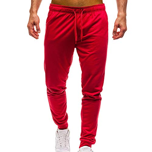 Longra Pantalón para Hombre, Hombre Chandal Bottoms Ropa De Deporte Delgado Ajuste Formación Pantalones Casual Trotar Deporte Pantalones