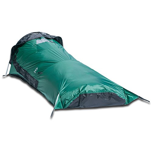Aqua Quest Hooped Green Bivy Tent Waterproof, Lightweight with Window for Climbing, Trekking, Backpacking