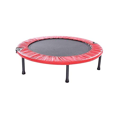 LKNJLL 40' Foldable Mini Trampoline,Fitness Trampoline With Safety Pad,Stable & Quiet Exercise Rebounder for Kids Adults Indoor/Garden Workout Max 300lbs