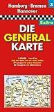 Die Generalkarte Extra Hamburg, Bremen, Hannover 1:200 000 - GENERALKARTEN EXTRA Mair