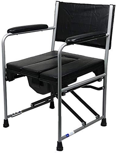 FREIHE Toiletstoel Opvouwbare nachtkastje commode stoel, licht en zwaar, draagbare douchestoel, 400 lbs, geschikt voor patiënten, ouderen, zwangere vrouwen