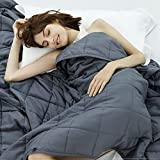 Weighted Idea Cooling Weighted Blanket 15 lbs Queen Size 60''x80'' for 130-170lbs Adult Women and...