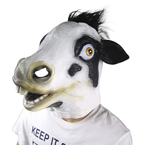 supremask Traje de Vaca Animal Cosplay Fiesta de Disfraces Halloween Ganado lechero Props Festival Látex Traje de Vaca lechera
