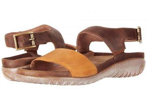 Naot(ナオト) レディース 女性用 シューズ 靴 サンダル Haki – Oily Dune Nubuck/Saddle Brown Leather 40 (US Women's 9) M [並行輸入品]