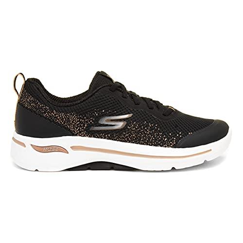 Skechers Go Walk AFF Mujer Zapatillas Deportivas para Correr Negro/Dorado EUR 41