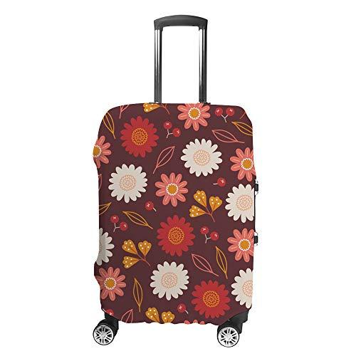 Chehong - Custodia protettiva per valigie, con pecore, colore bianco, in fibra di poliestere, lavabile, elastica, antipolvere, adatta a 40-70 cm