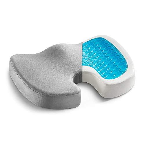 YLOVOW Gel-Enhanced Cushion-Non-Slip Orthopedic Gel And Memory Foam Tailbone Cushion-Office Chair Car Cushion-Sciatica And Back Pain Relief