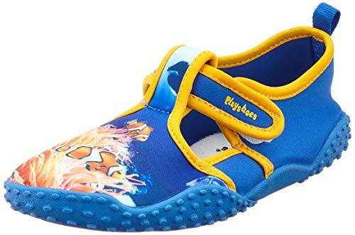 Playshoes Unisex-Kinder UV-Schutz Badeschuhe Unterwasserwelt Aqua Schuhe, Blau (Blau 7), 32/33 EU