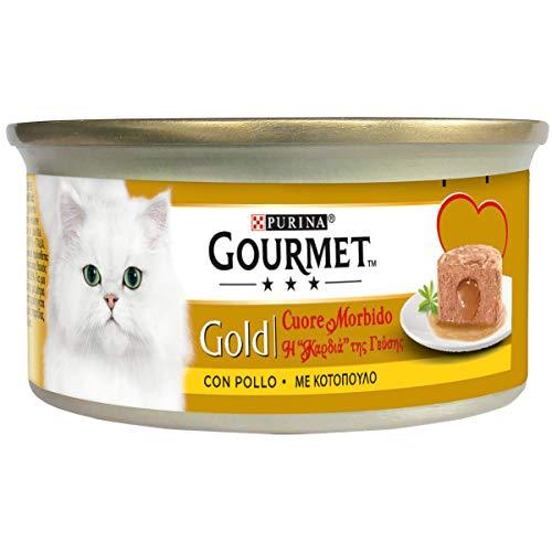 Purina Gourmet Gold Cuore Morbido Umido Gatto, con Pollo - 24 lattine da 85 g ciascuna (Confezione da 24 x 85 g)
