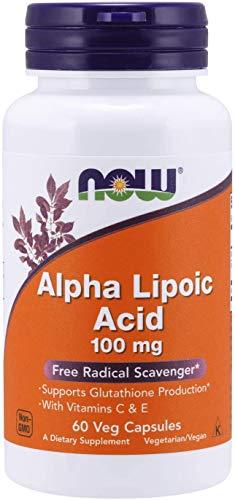 NOW Alpha Lipoic Acid 100mg 60 Veg Capsules, 40 g