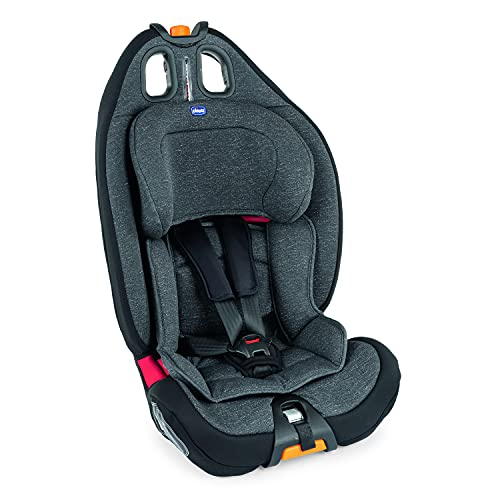 Chicco Gro-Up 123 Siège Auto pour Bébé 9-36 kg, Groupe 1/2/3 pour Enfants de 9 mois à 12 ans, Facile à Installer, avec Appui-Tête Réglable, Réducteur pour Bébé et Coussin Souple - Ombra
